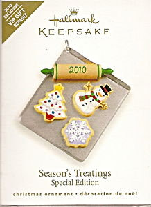 2010 Hallmark VIP Repaint SEASON'S TREATINGS Christmas Cookies Ornament