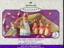 TALE OF PETER RABBIT Beatrix Potter Hallmark 3 Porcelain Ornaments NEW