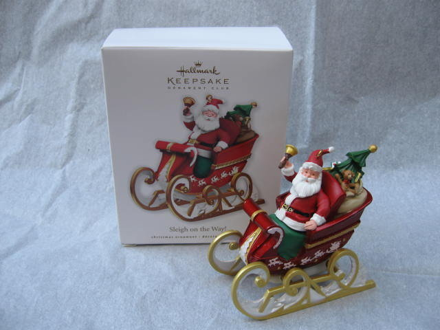 2010 Hallmark SLEIGH ON THE WAY Christmas ornament