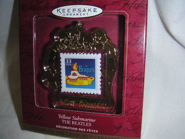 Beatles YELLOW SUBMARINE Stamp Ornament ~Hallmark 1999~NEW