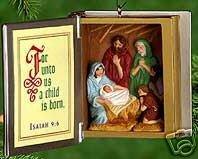 Hallmark 2000 The Good Book~Bible~Nativity~Christmas Ornament-Isaiah