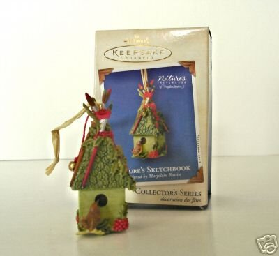 Hallmark 2003 Marjolein BASTIN Nature's Sketchbook #1 Christmas Ornament-NEW