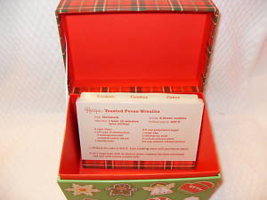 Hallmark Holiday Christmas Recipe Box + Cards +Recipes