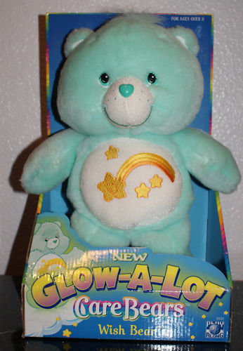 New! GLOW-A-LOT Wish CARE BEAR- Glows in Dark ~ NEW