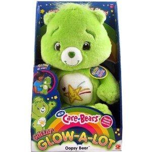 Care Bears GLOW in the Dark OOPSY Plush Bear NEW