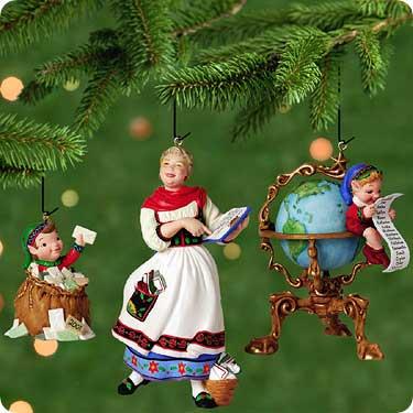 2001 Hallmark Membership Kit--Set of 3 Ornaments