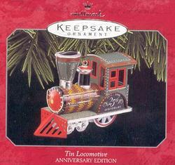 Tin Locomotive Hallmark Ornament 25th Anniversary Edition 1998