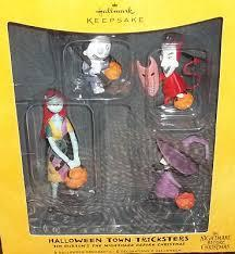 Hallmark*Halloween Town Tricksters* Nightmare Before Christmas 2008 Set of 4 ornaments