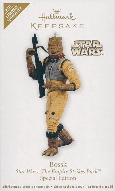 Hallmark 2011 BOSSK Star Wars: Empire Strikes Back Christmas Ornament-LIMITED EDITION