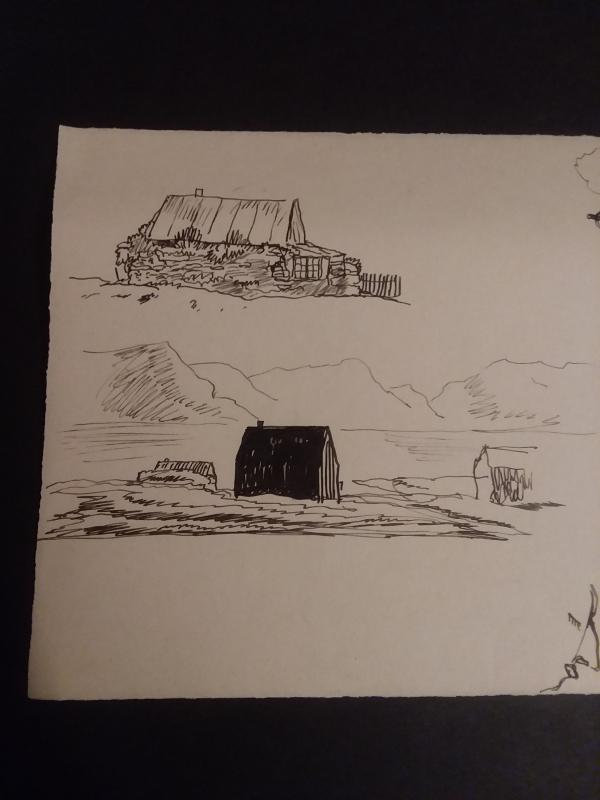 Rockwell Kent Pen & Ink Sketches. Studies for Salamina ca. 1934. Estate stamp of Rockwell Kent in the corner. Make An Offer!