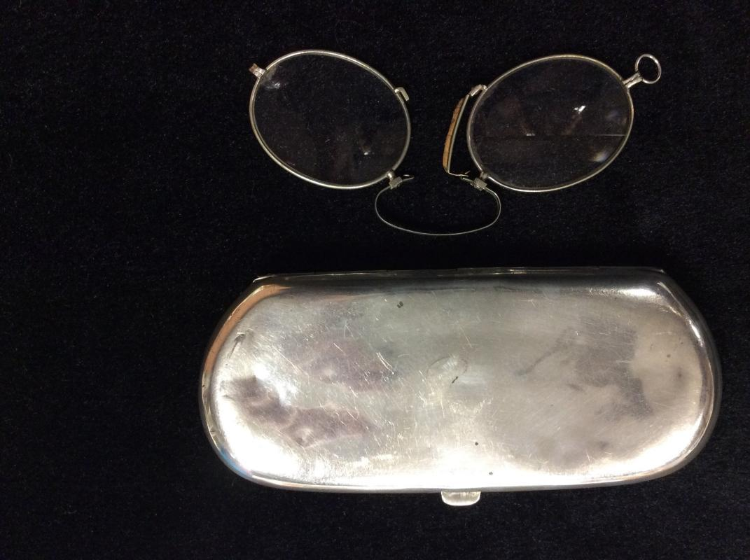 Sterling Silver Repousse Eyeglass Case