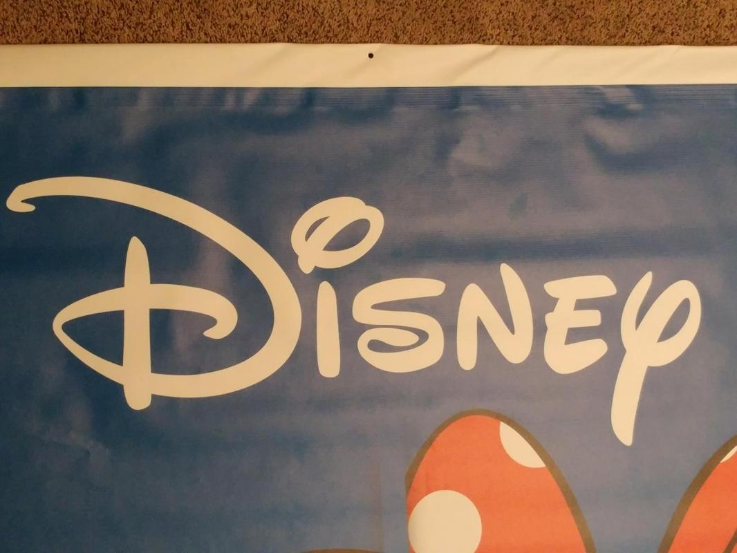 1213----7' x 4' huge Mickey/Minnie Mouse vinyl Toys R Us store display