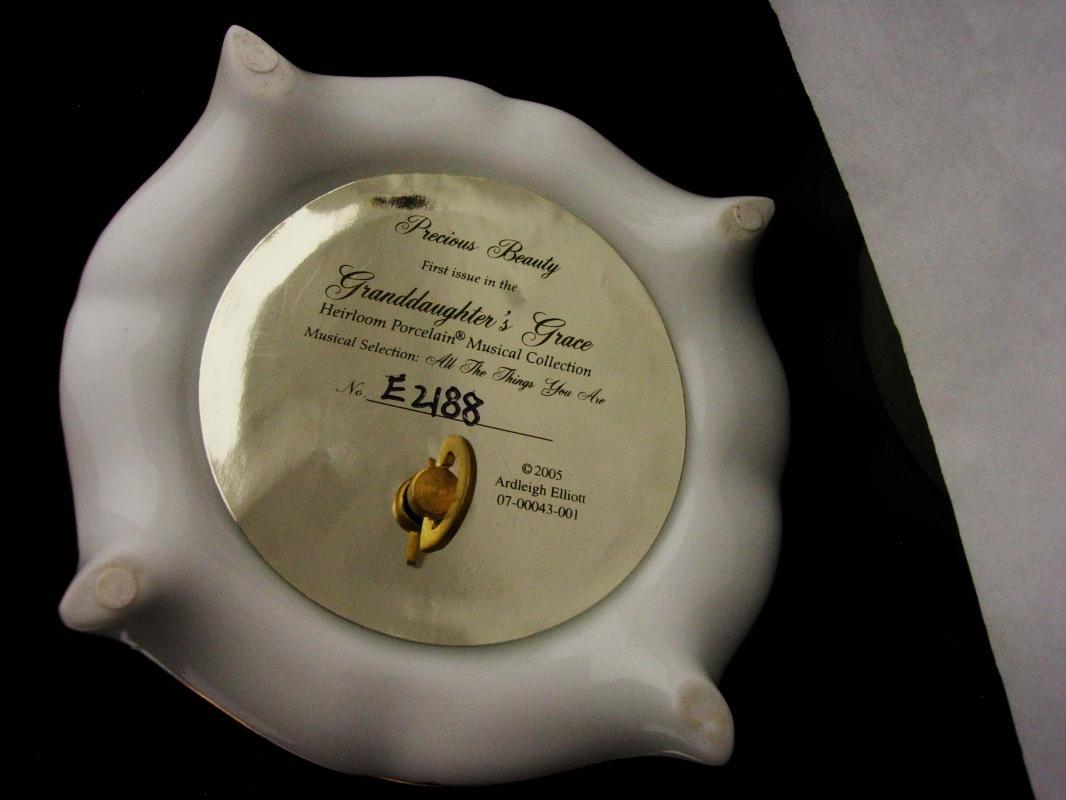 Musical Egg -  music box - limited edition - Granddaughter - Yellow rose - works great -All The Things You Are wedding gift Ardleigh Elliott