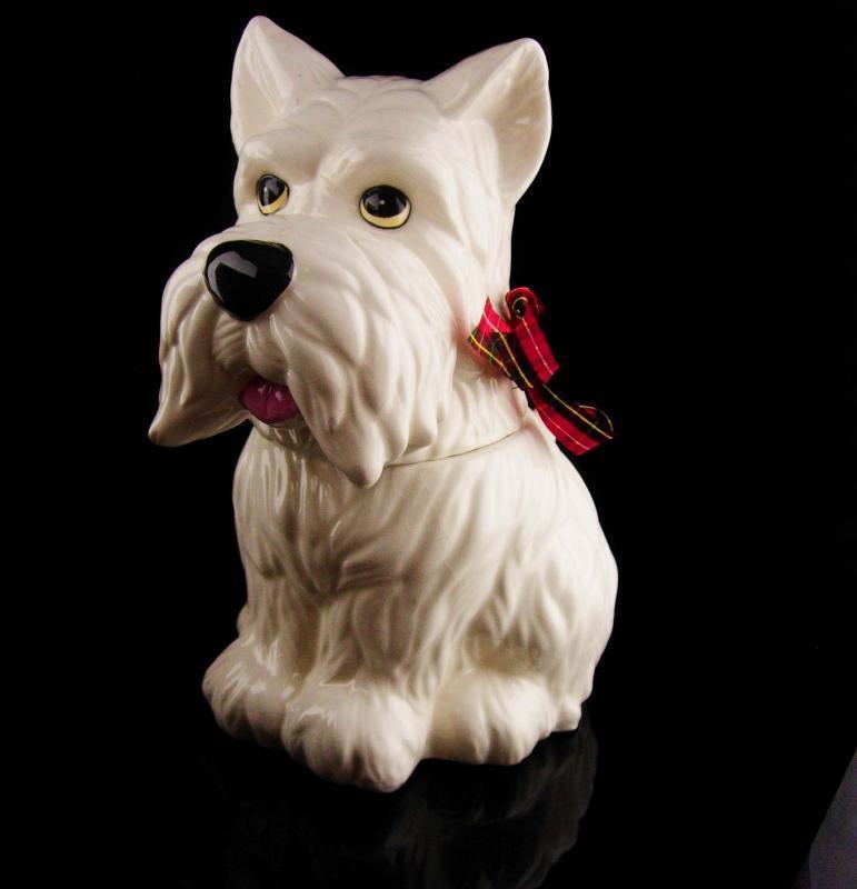 Scottish Terrier cookie jar - Vintage Scottie Dog -  Canine treat jar - dog lover gift - baker storage - gift for mom