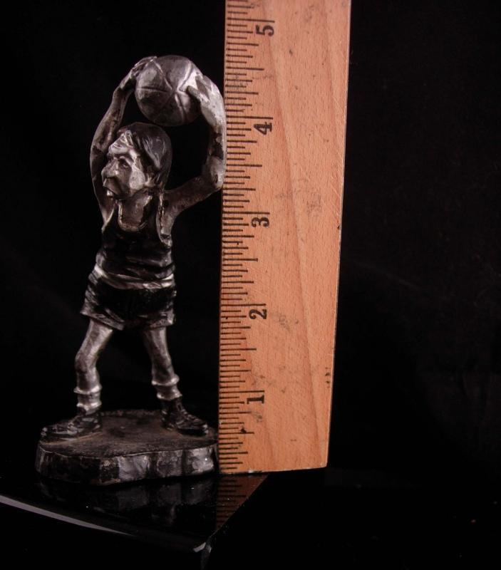 vintage Athletic Basketball figurine - pewter signed philip kraczkowski - Where did they go - gift for dad  artist statue  novelty gag gift