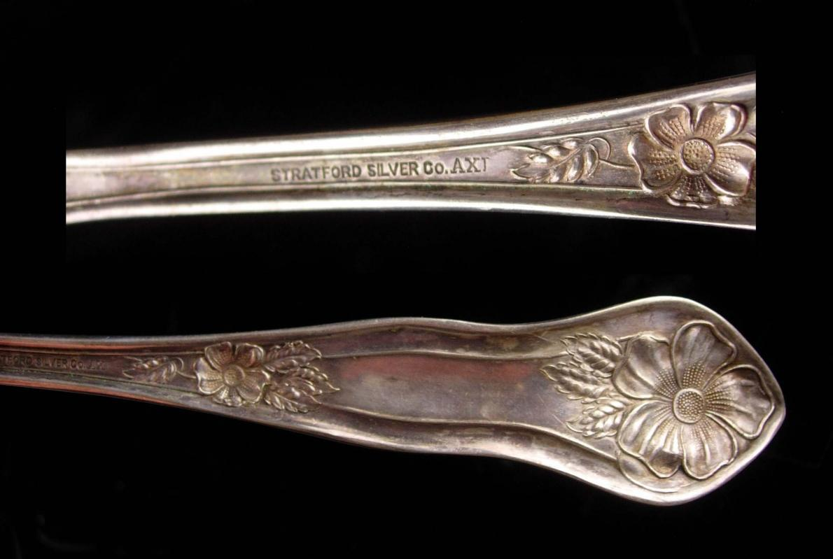 1913 Stratford Fancy large Fork - Antique victorian Wedding Gift - Victorian cold meat serving Fork set - bride groom gift - rosedale