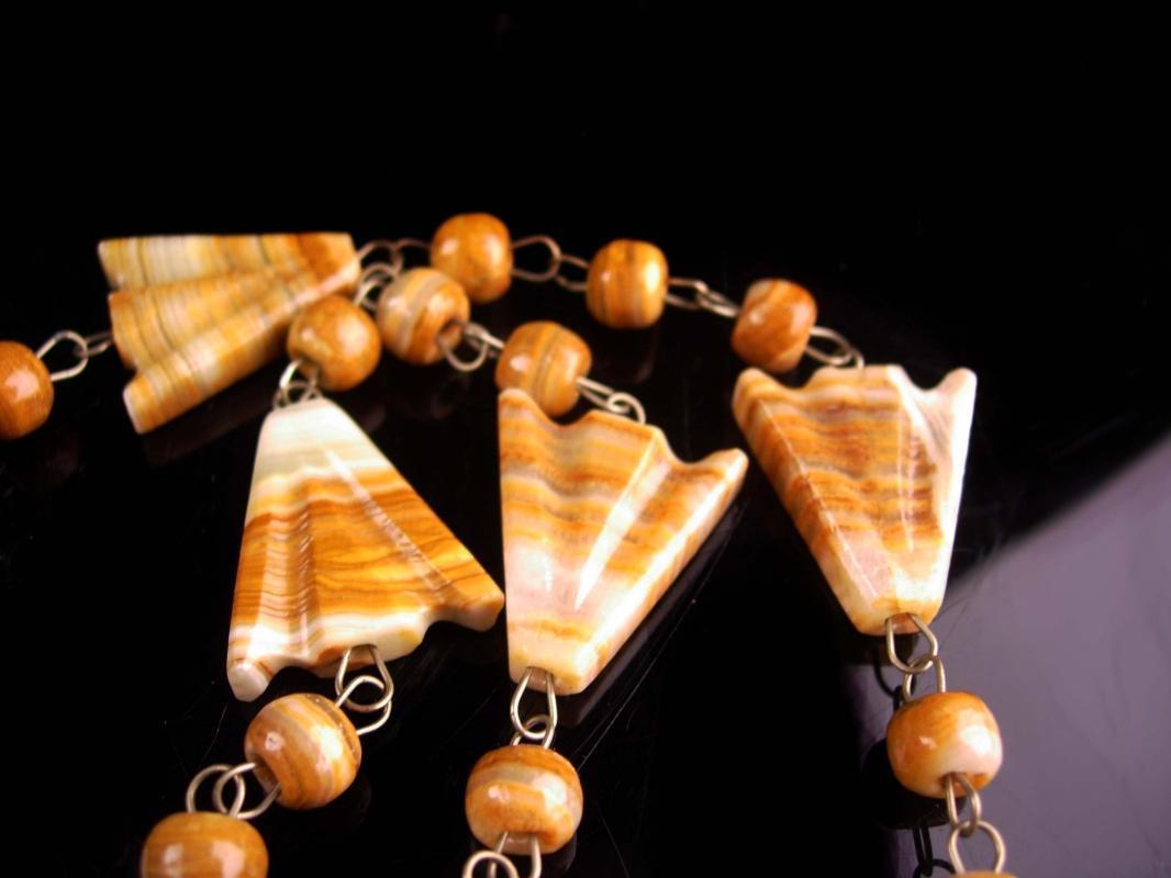 Vintage carved Sun necklace - big Mask agate pendant - Vintage Aztec jewelry -  Mexican tribal  pendant