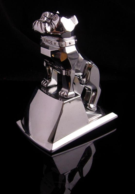 Vintage Mack hood ornament - Chrome Metal Bulldog sculpture -  MACK Truck statue - marine College football mascot - Figural dog lover
