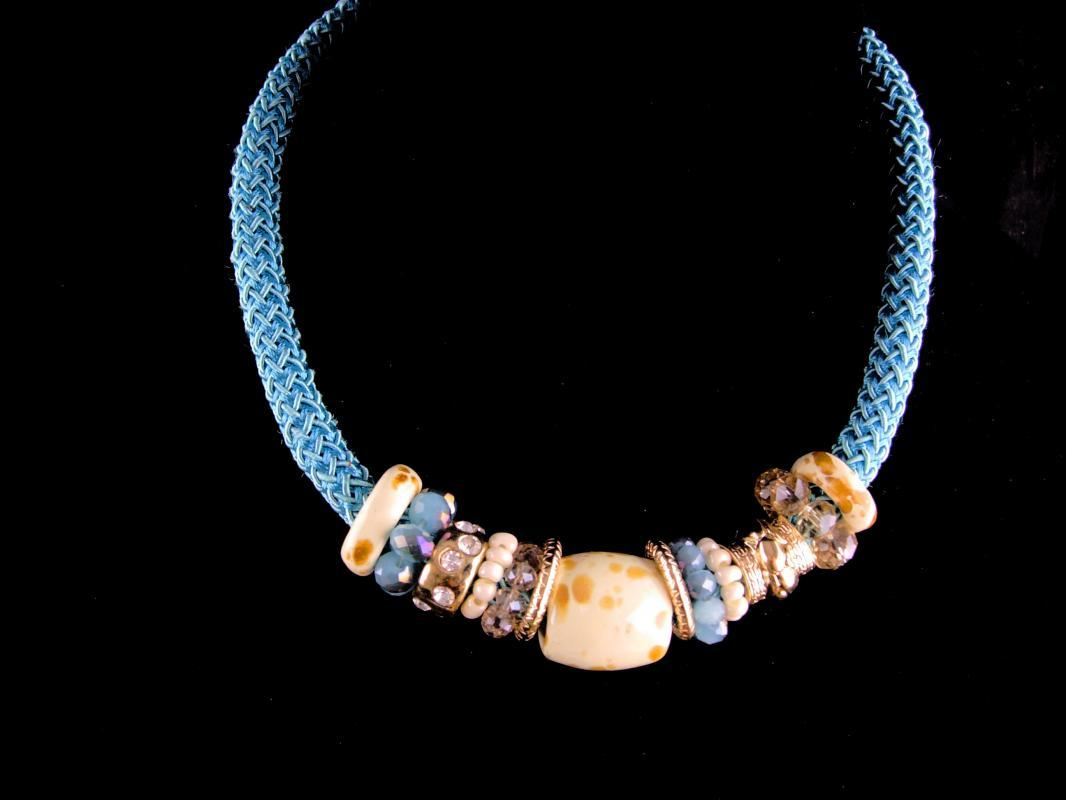 Chunky LARGE turquoise Necklace /  signed choker /  Vintage Tribal Jewelry / Hippie style / indian design  / turquoise choker