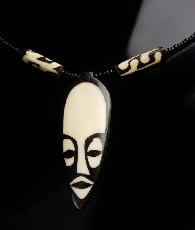 Bizarre Vintage mask brooch / 2 1/2
