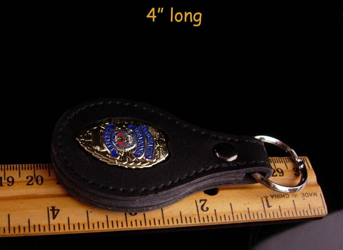 Mens pistol permit Cowboy Key Chain - gold badge - NRA anniversary gift - gift for dad - graduation - black keychain - fathers day - texas gift