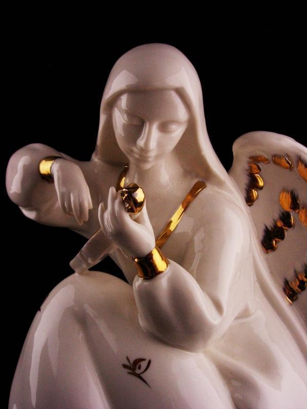 Vintage LARGE victorian angel figurine - 11