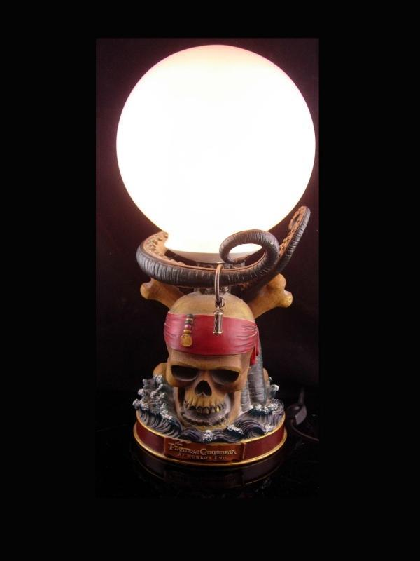 Gasparilla pirate lamp / Skull and crossbone  / Vintage pirates caribbean light / disney nautical gift / sailor ship - gift for him
