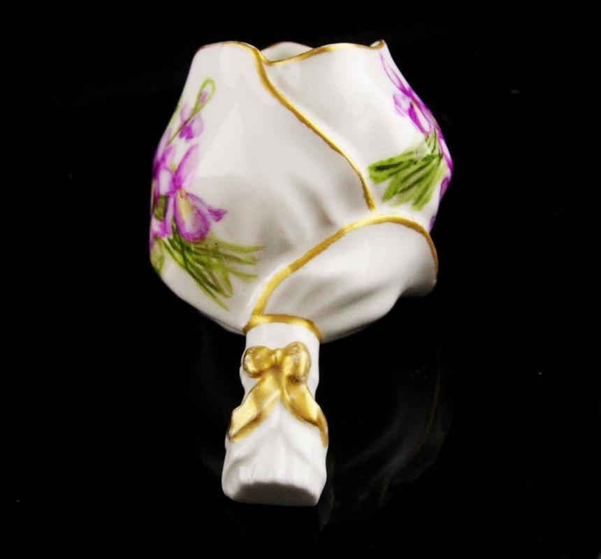 Unusual bridal handle vase - flower vase - pink flower bowl - bouquet vanity trinket box - wedding gift - gardener gift - gift for mom