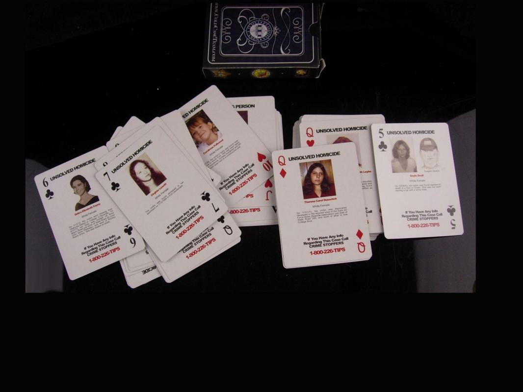 Vintage Wanted poster cards - cold case playing cards - Florida Edition 111 - unsolved crime deck cards - graduation gift - police gift