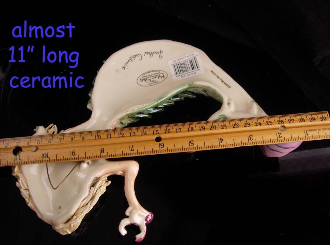 Signed mermaid hanging plaque - Vintage sea goddess - tea light candle holder - Goddess Figurine lgbt gay interest - heather goldmix