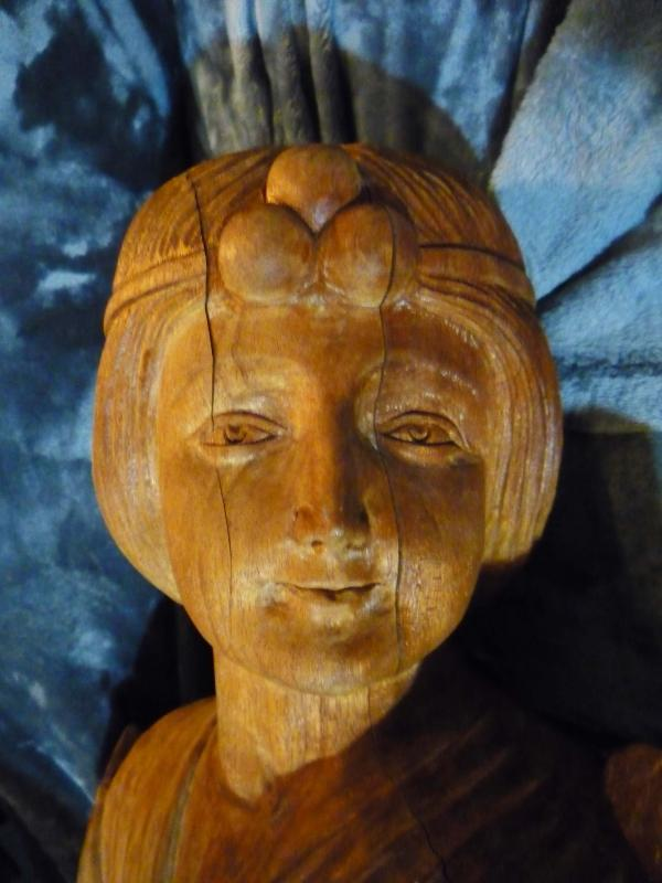 Antique French Wood Statue 31