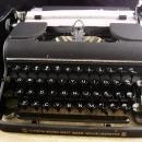1050's Olympia typewriter - Original Western Germany case and keys - ONE owner  - vintage original portable office machine -