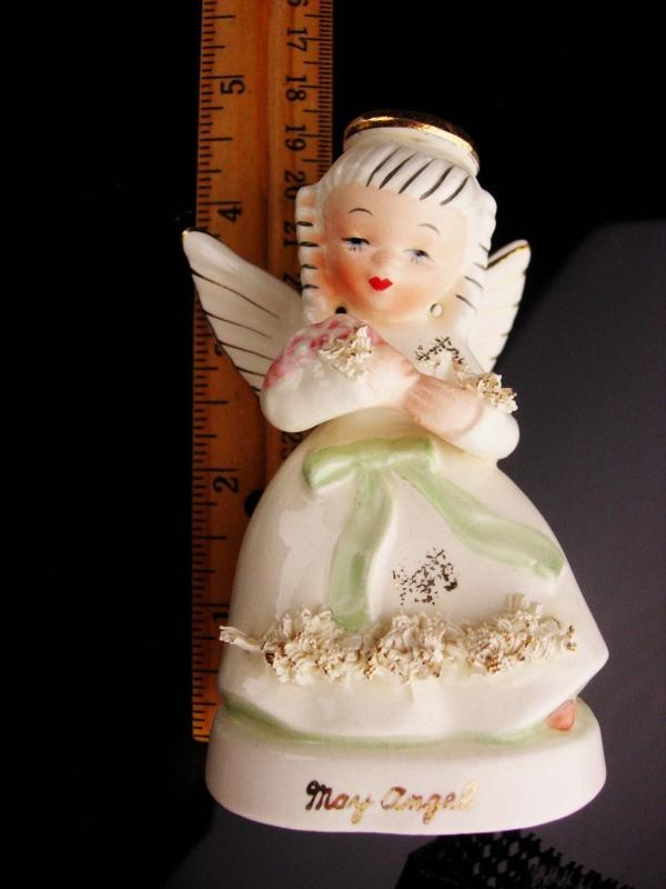 Vintage 1950's Christmas Angel figurines - Napco Japan - May November Birthday statues - Christmas statues - girl figurines
