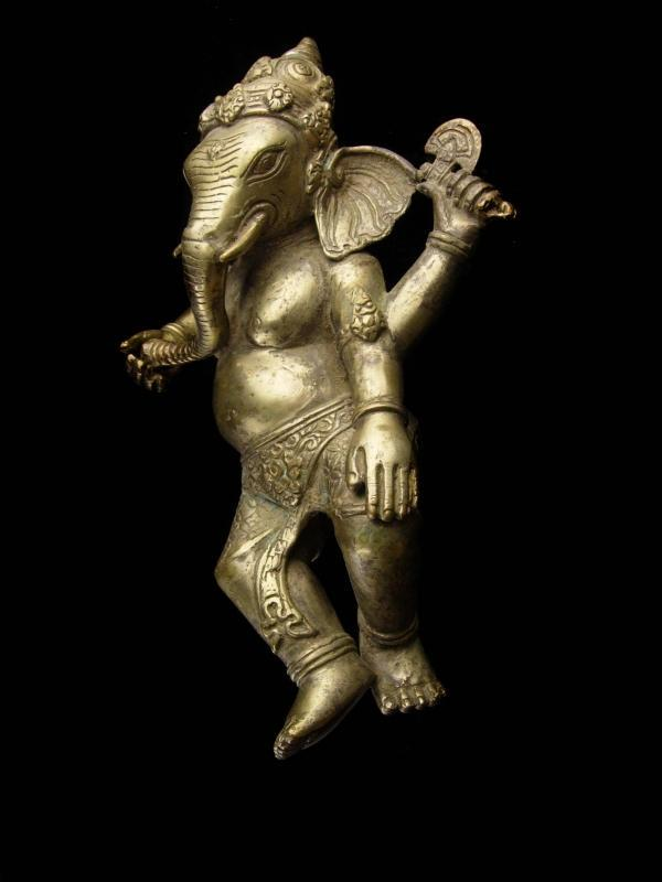 Vintage Mythical Creature - large Ganesha metal statue - hindu deitie - housewarming gift - good luck gift - new beginnings - elephant
