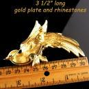 BIG Swarovski Bird Brooch - huge statement pin - estate jewelry - Bird of paradise - gift for mom
