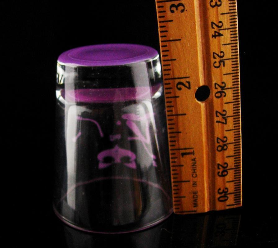 Erotic Shot Glasss / Vintage cat Purple / diva las vegas / show girl / Bartender gift / gift for dad / new years gift