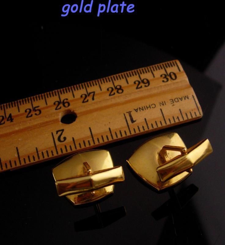 Damascene Cufflinks set - Vintage Wedding groom cufflinks -  24kt gold kilates-  father of bride gift anniversary gift Tie bar