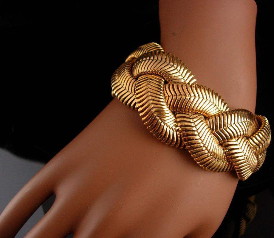 AWESOME Golden braid mesh bracelet /  HEAVY 7