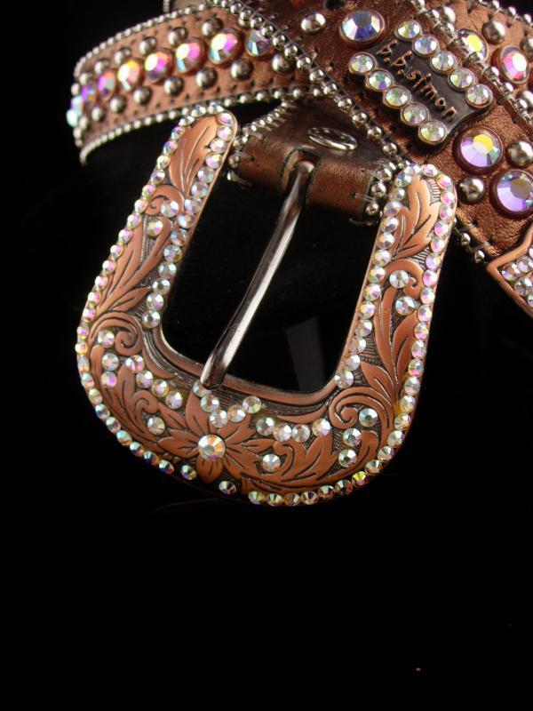 Vintage Belt - BB Simons - Aurora borealis rhinestones - 26-31
