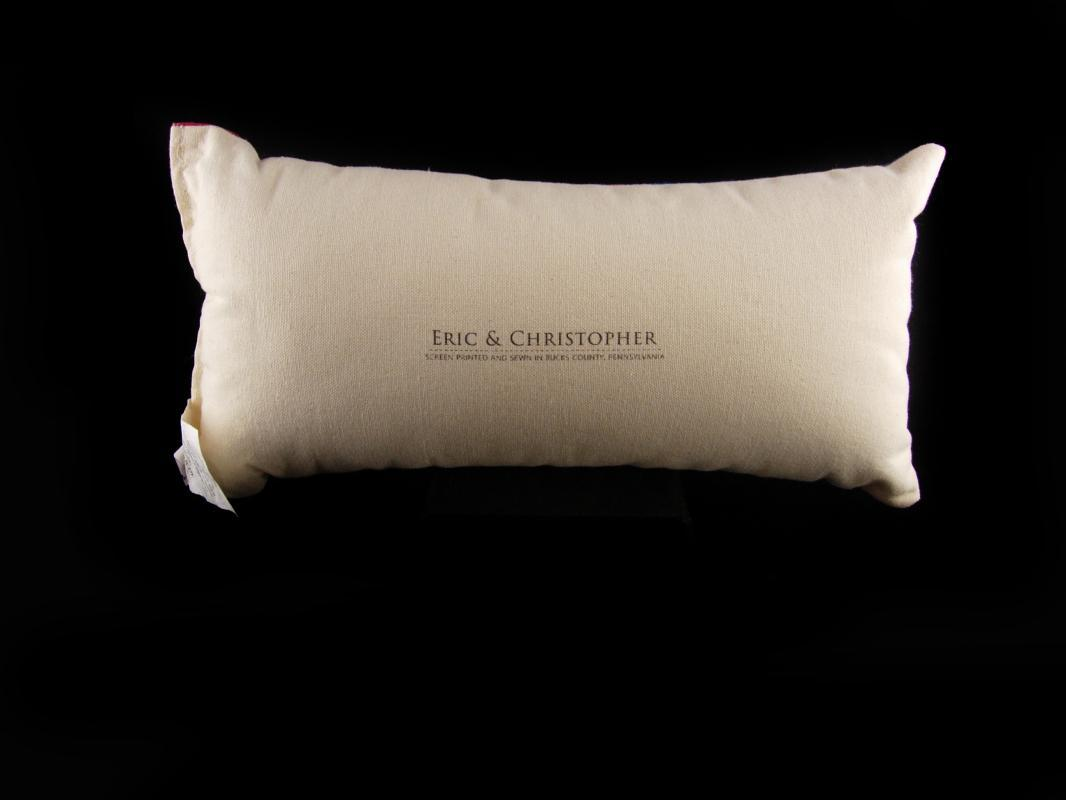 Designer pillow - Eric & Christopher - flag pillow - screen printed - Red white blue - Patriotic gift - fold art design - throw pillow