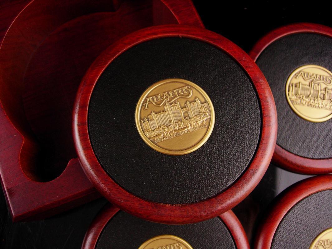 Presidents box casino Coasters - Vintage Atlantis casino set - Paradise Island Bahamas - Gambling Las Vegas - gambler gift - gift for dad