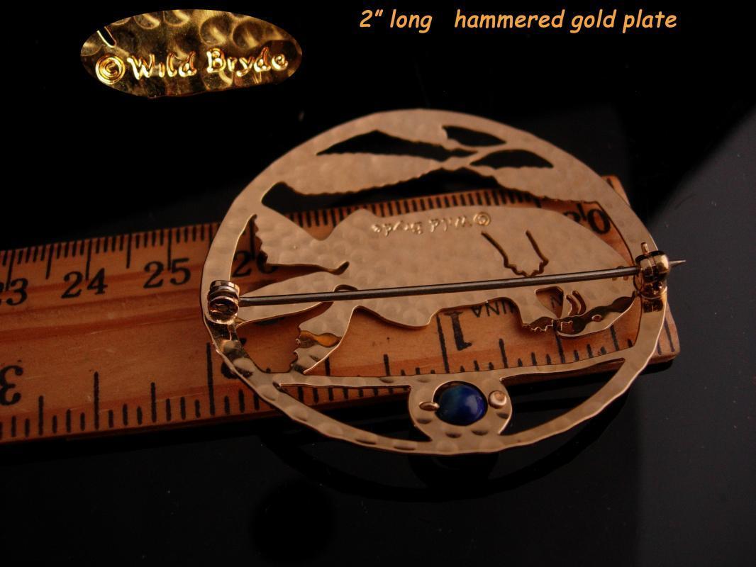 Vintage Beaver brooch - Signed golden Gopher pin - lapis Groundhog mascot - Figural brooch - animal lover gift - log cabin builder