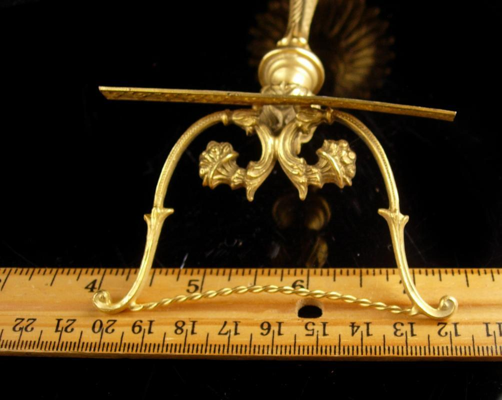 Vintage Victorian Music Stand - gilt brass Scottish thistle - musician gift - classical music - Miniature lyre Musical stand