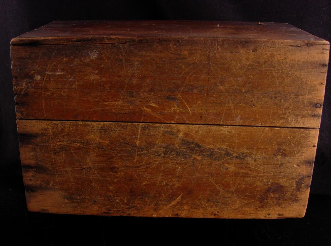Antique Cartridge box  - Slide top - primitive box - antique wood crate - military box - handmade box- gift for dad