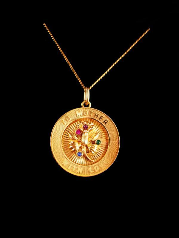 Vintage gold filled Mother Necklace / To mother with love - gift for mom - 18