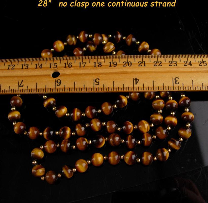 Vintage TigerEye necklace - 28