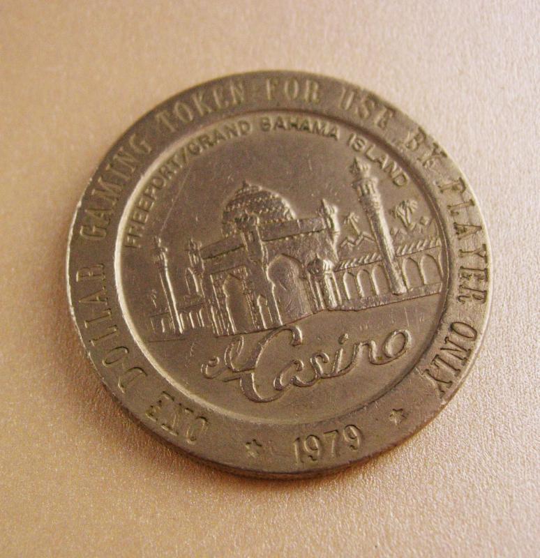 Vintage gambling token/ gambling gift / heads tails / freeport gaming token - vintage casino collectible