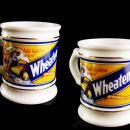 Vintage Shaving cup - wheatena cereal advertising mug - country store - vanity accessory