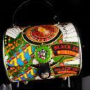 Novelty gambling purse - metal box purse - black jack player - roulette wheel - poker player gift - shoulder purse