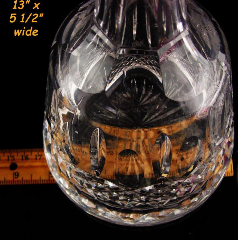Vintage waterford crystal bottle - Whiskey Decanter - wedding gift - signed Irish crystal barware Scotch Bourbon glass - Sherry bottle